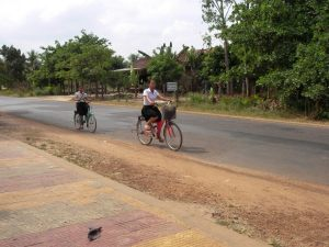 cambodia girls on bikes
